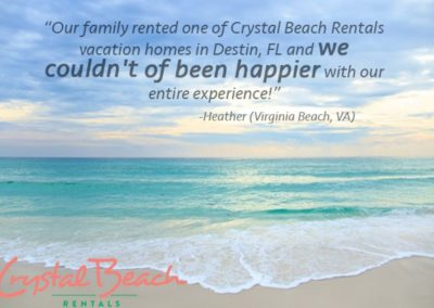 Diamonds in the Sand - Destin Vacation Rental - Customer Testimonial